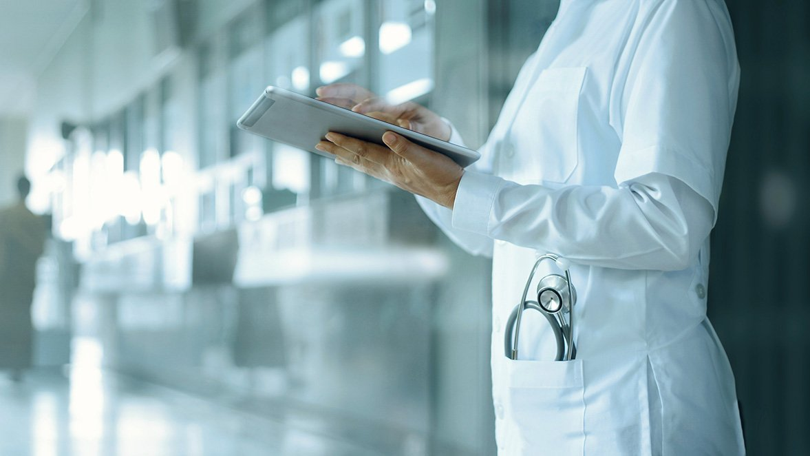 Doctor Using Technology Services